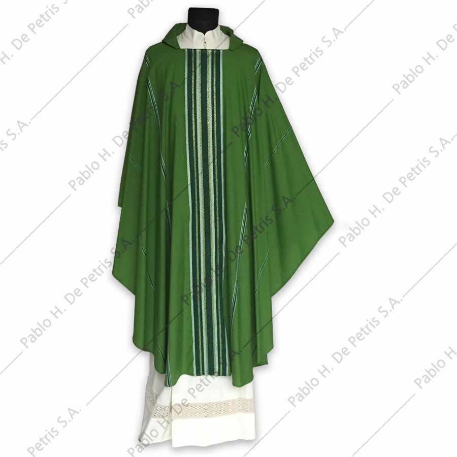 H 6546 - Verde - Casulla italiana