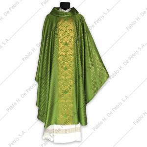 H 6592-3L - Verde - Casulla italiana