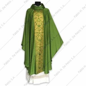H 6592 - Verde - Casulla italiana