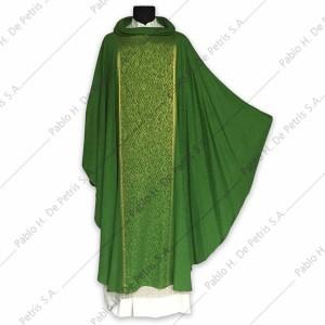 H 6896 - Verde - Casulla italiana