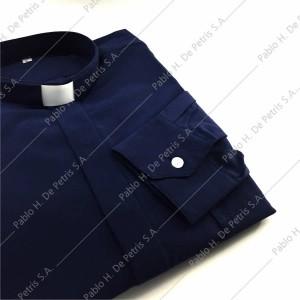7757-Azul - Camisa manga larga