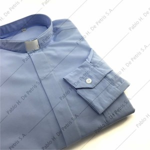 7757-Celeste - Camisa manga larga