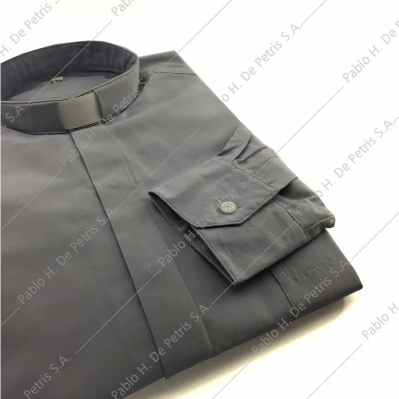 7757-Gris - Camisa manga larga
