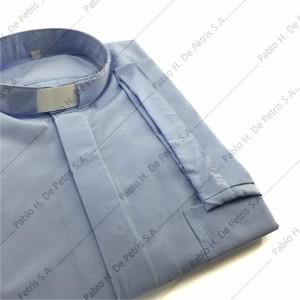 7762-Celeste - Camisa manga corta