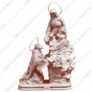 A56 Virgen del Carmen con San Simón Stock - Imagen Española