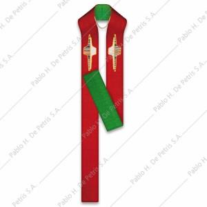 S 51-2605-Rojo-Verde - Estola reversible Slabbinck - Bélgica